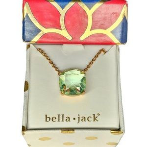 🆕 BELLA JACK Peridot Crystal Gold Necklace BNIB!